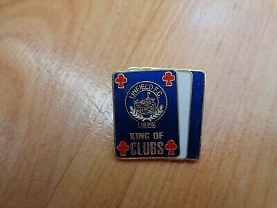 £9.99 • Buy Classic Linfield Fc King Of Clubs Enamel Pin Badge Rangers Loyalists