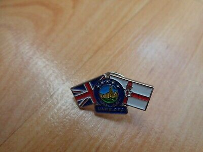 £7.99 • Buy Classic Linfield Fc Crest +ulster & Union Jack Flags Pin Badge Rangers Loyalists