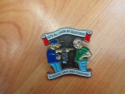 £10.99 • Buy Classic Linfield Fc 'let's All Laugh At Glentoran' Pin Badge Rangers Loyalists