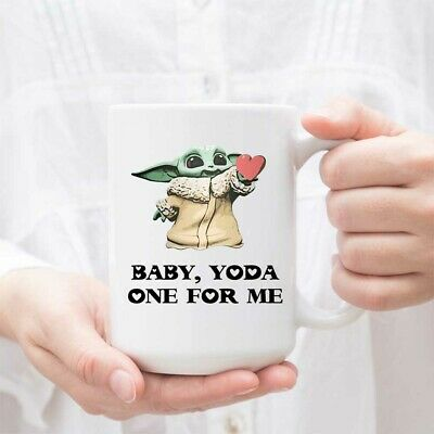 $15.99 • Buy Science Fiction Coffee Mug - Baby Yoda One For Me - Lightsabers Battle Fighter