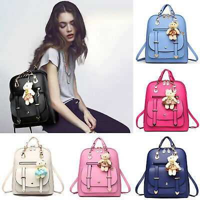 $21.15 • Buy Women Girls PU Leather Backpack Shoulder Bag Travel Outdoor School Bag Satchel