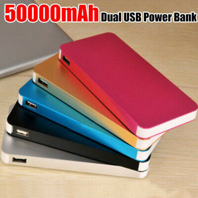 AU15.30 • Buy 50000mAh External Power Bank Dual USB Portable Battery Charger For Mobile Phone