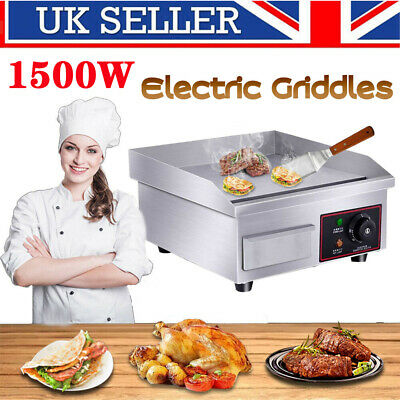 Commercial Electric Griddle Kitchen Hotplate Countertop BBQ Flat Grill Bacon UK • 61.98£