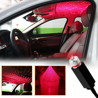 $7.99 • Buy USB LED Car Atmosphere Lamp Ambient Star Light Projector Starry Lamp Accessories