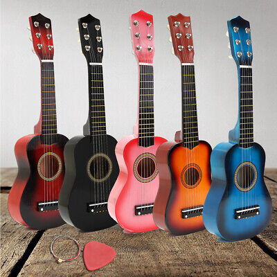 21''childrens Kids Wooden Acoustic Guitar Musical Instrument Child Toy Xmas Gift • 13.88£