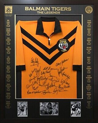 AU500 • Buy Blazed In Glory - Balmain Legends - NRL Signed & Framed Jersey