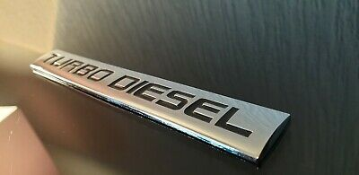 TURBO DIESEL METAL Side Wing Fender Bumper Trunk Decal Logo Badge Emblem Sticker • 5.99£