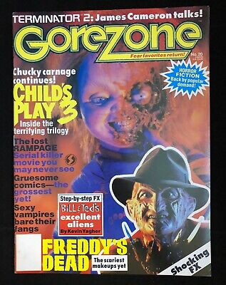 $16.95 • Buy GoreZone #20 Winter 1992 Child's Play 3 Freddy's Dead HUGE Chucky, Freddy Poster