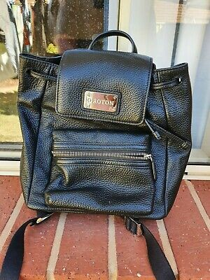 AU70 • Buy Womens OROTON Black Genuine Leather Small Backpack - New Without Tags.