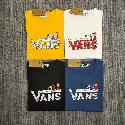 VANS X Snoopy Men's Women's Limited Edition Casual Short Sleeve Campus T-Shirt • 17.99£