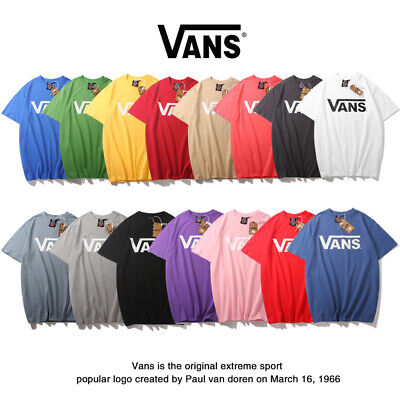 VANS Men's And Women's Classic Print Logo Short Sleeve Casual Breathable T-Shirt • 15.99£