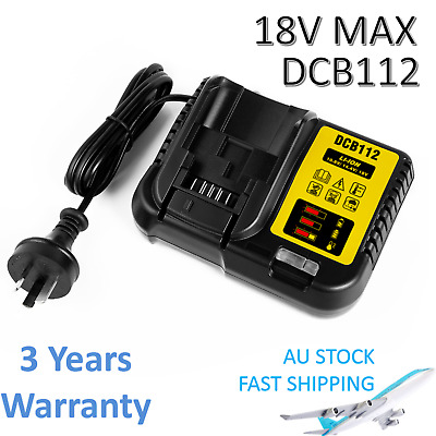 AU39.89 • Buy For DeWalt DCB112 Li-ion Battery Charger DCB115-XE 10.8V 14.4V 18V Battery XR AU