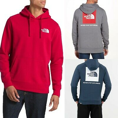 $48.26 • Buy Mens The North Face Red Box Hoodie Pullover Sweatshirt Red Grey Blue XL