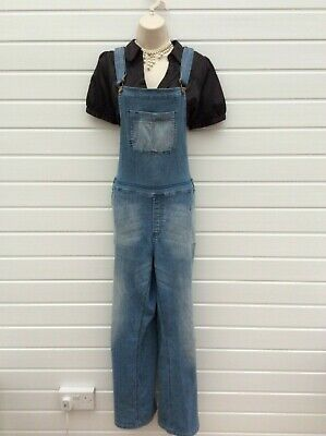Denim Dungarees,maternity,rockabilly,boho,50's,60's,70's Vintage Style,,size 10 • 12.99£