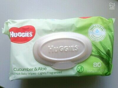 AU5.50 • Buy Huggies Thick Baby  Wipes 80 Sheets Cucumber & Aloe
