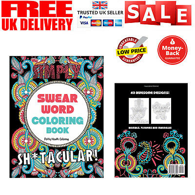 Adult Colouring Books Swear Word Release Your Anxiety Paperback Book NEW • 4.75£
