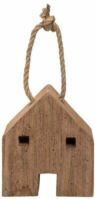 Foreside Home And Garden Wood House Door Stop Farmhouse Jute Rope New • 14.46£