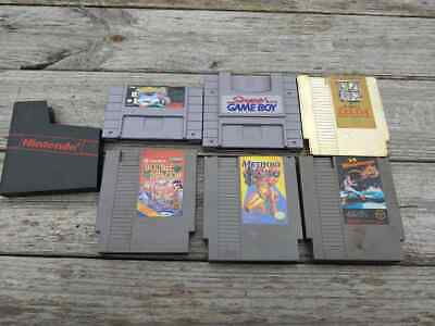 $ CDN59.23 • Buy Lot Of (6) Vintage Nintendo Games NES SNES Gameboy Adapter Zelda Metroid