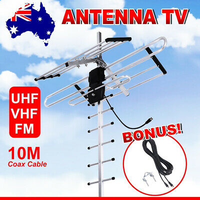 AU31.95 • Buy Outdoor Digital TV Antenna For UHF VHF FM 470MHz-860MHz Strong Signal 10m Cable