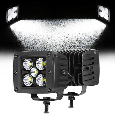 AU49.99 • Buy Pair 3inch CREE LED Work Light Bar Cube Pods Spot Flood Driving Offroad 4WD SUV