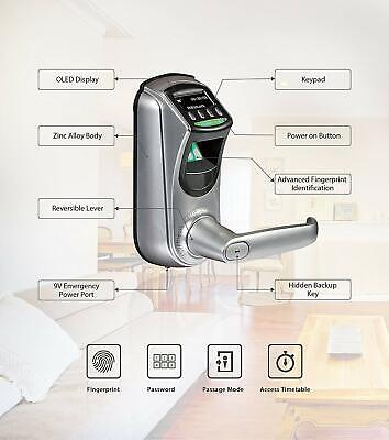 AU190 • Buy Smart Fingerprint Door Lock With Unlocking Records Tracking User Data Backup