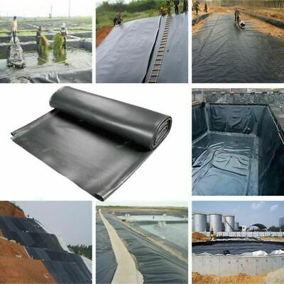 0.3mm Fish Pond Liners Gardens Pools HDPE Membrane Reinforced Landscaping Black • 16.99£