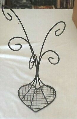 £5.70 • Buy Black Wire Necklace Stand Heart Base 16 Inches Tall
