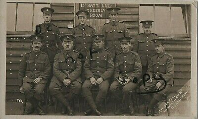 WW1 Soldier Group 13th Battalion Loyal North Lancashire Regiment Orderly Room • 19.99£