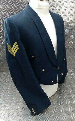 £99.99 • Buy Genuine RAF Royal Air Force Mess Dress Jacket No5 Issued Sergeant Rank Buttoned