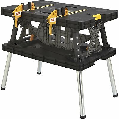 View Details Keter Folding Work Table- 33 1/2in.L X 21 3/4in.W X 29 3/4in.H Model# 17182239 • 78.99$