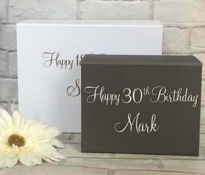 Luxury Personalised Magnetic Special Birthday Gift Box Keepsake Box • 9£