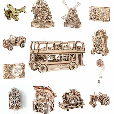 WOODEN CITY Mechanical Wooden Model Kits - Model Choice • 19.95£