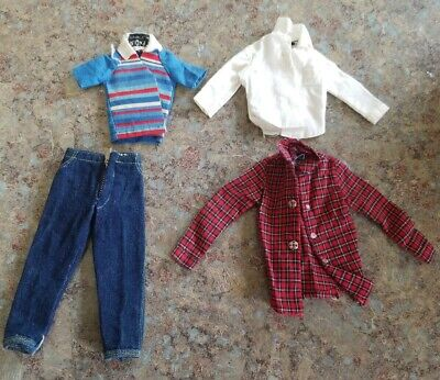 $ CDN1.41 • Buy Vintage Barbie Doll Ricky Clothing Lot