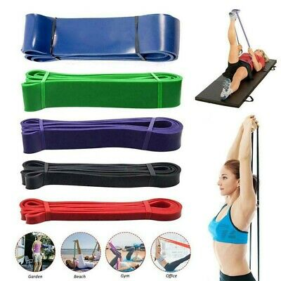 AU17.39 • Buy Resistance Bands Kit Heavy Duty Loop Fitness Home Yoga Gym Pull Up Exercise AU