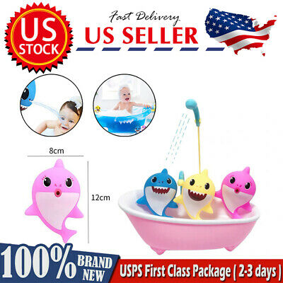 $3.99 • Buy Summerdays Baby Cartoon Shark Family Bath Squirt Toys Cute Animal Action Figure