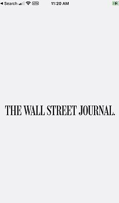 $40 • Buy [Real US Seller]Wall Street Journal WSJ 3-Year Shared Digital Subscription