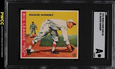 $62 • Buy 1934 Goudey World Wide Gum Rogers Hornsby #1 SGC Auth (PWCC)