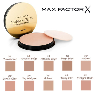 MAX FACTOR Creme Puff Compact Pressed Face Powder 21g *CHOOSE YOUR SHADE* • 4.69£