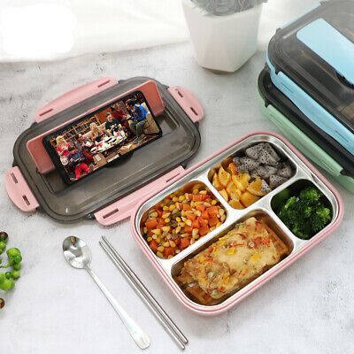 AU22.99 • Buy  304 Stainless Steel Insulated Bento Lunch Box Leak-proof With Compartments