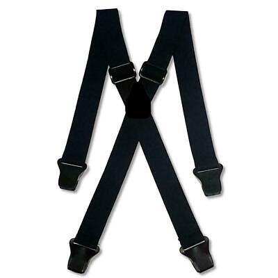 Mens Black Airport Braces Heavy Duty 1.5  Or 2  Work Trousers Plastic Clips • 15.99£