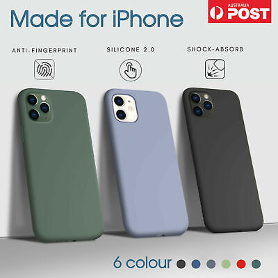 AU6.98 • Buy For Apple IPhone 11/Pro/Pro Max/X/XR Case Shockproof Liquid Silicone Cover
