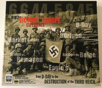 £15 • Buy WWII Victory In Europe Experience From D Day WW2 Hardback Book War Museum CD NEW