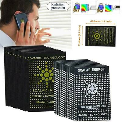 1/5/10 Phone Laptop Anti Radiation Stickers EMF Quantum Scalar Shield Protection • 8.64£