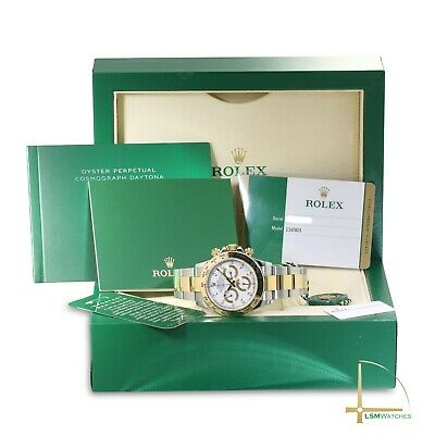 $ CDN28001.77 • Buy Rolex Daytona 116503 18KY/SS Mens White Dial Watch-COMPLETE MINT CONDITION
