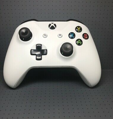 $33.95 • Buy Genuine Microsoft Xbox One S X Wireless Bluetooth Controller Model 1708 White
