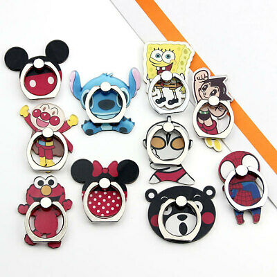 AU4.99 • Buy Disney Kawaii Phone Ring Pop Stitch Mickey Minnie Spider Elmo Spongebob Socket