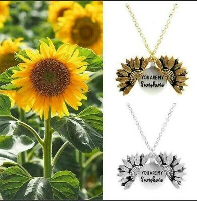 AU6.99 • Buy YOU ARE MY SUNSHINE  SUNFLOWER NECKLACE HOT!!!  Gold & Silver