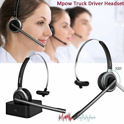 MPOW Car Bluetooth Headset Wireless Headphone Noise Cancelling For Calling Skype • 22.59£
