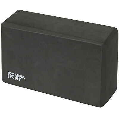 Mirafit Black Foam Exercise Yoga Block Fitness/Stretching Aid Brick Gym/Pilates • 7.99£