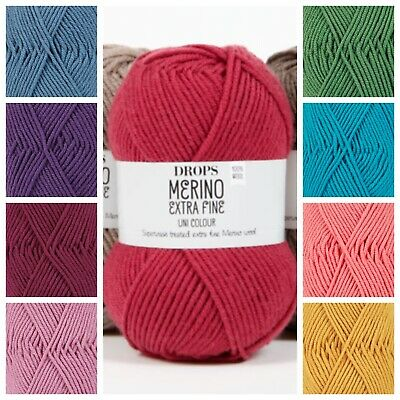 Drops 100% Merino Extra Fine Double Knitting Wool Superwashed DK Yarn ! SALE! • 3.10£